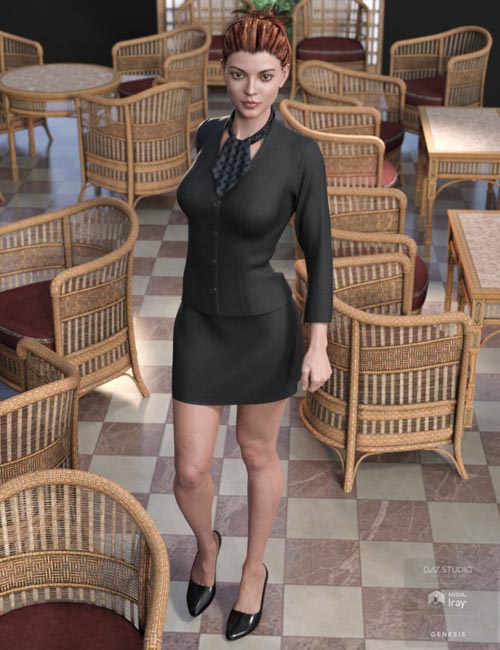 dForce Hostess Outfit for Genesis8 Female(s)
