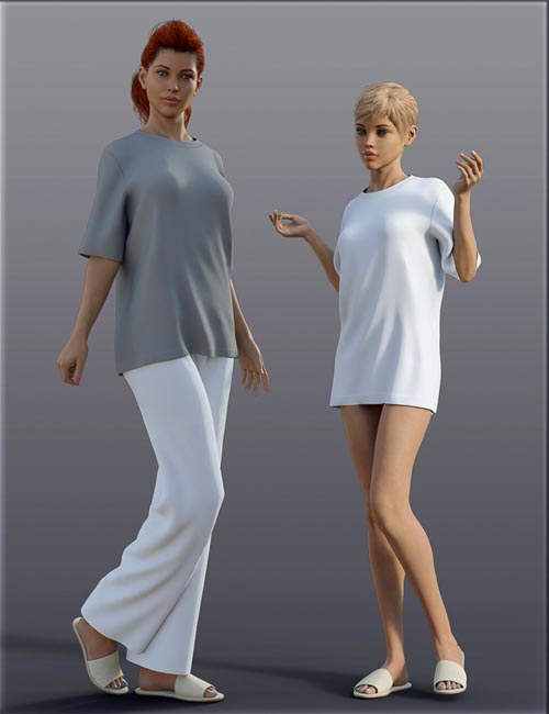 H&C dForce Housewear Outfit A for Genesis 8 Female(s)