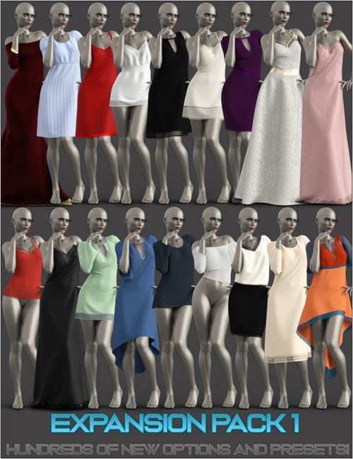 Expansion Pack 1 for dForce Multi Dress System for Genesis 8 Female(s)