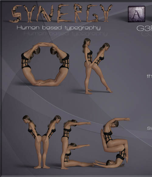 Synergy ABC - Poses for G3F-G8F