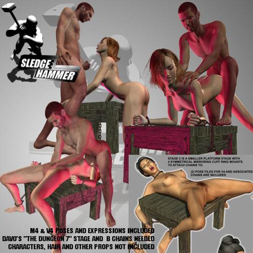SledgeHammer's StageChained V4M4 Sex Poses for V4