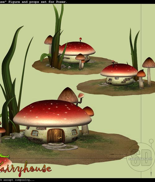 Samil's FAIRYHOUSE - set for Poser
