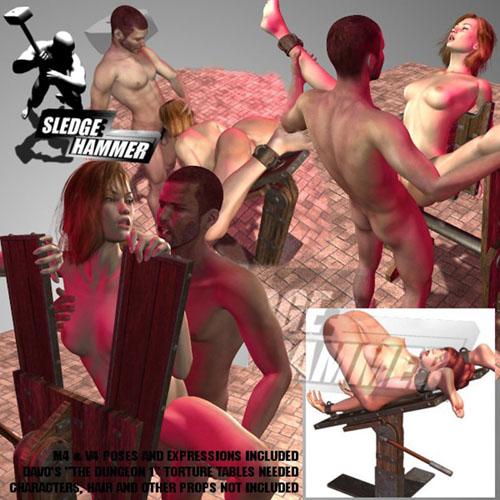 SledgeHammer's TortureTablesD1 V4M4 Sex Poses for V4