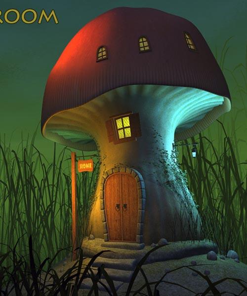 Real mushroom house