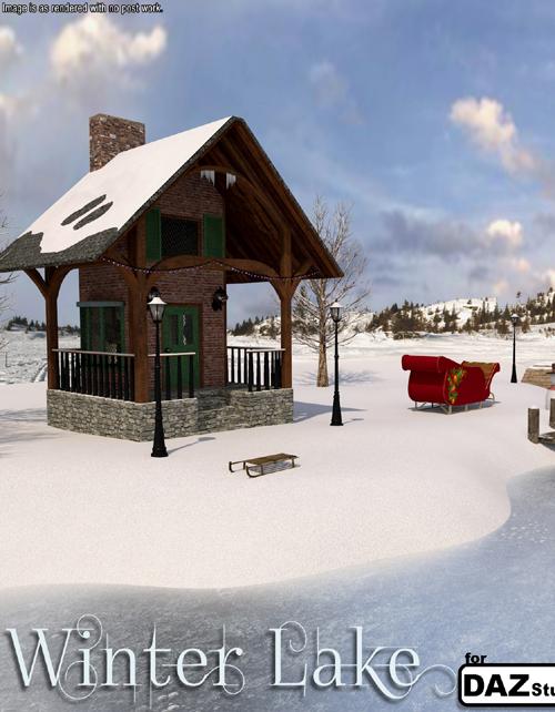 Winter Lake for Daz Studio