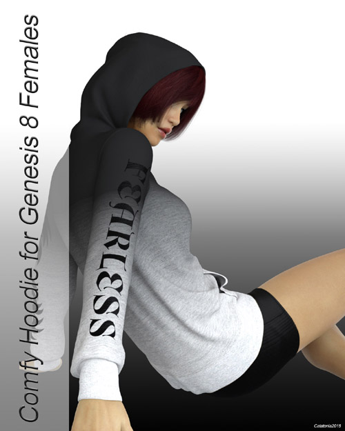 dforce Comfy Hoodie for Genesis 8 Females