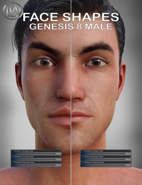 Face Shapes for Genesis 8 Male