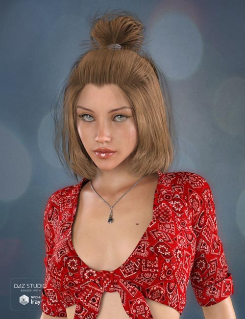 Sweet 17 Tail Hair for Genesis 3 Female(s)
