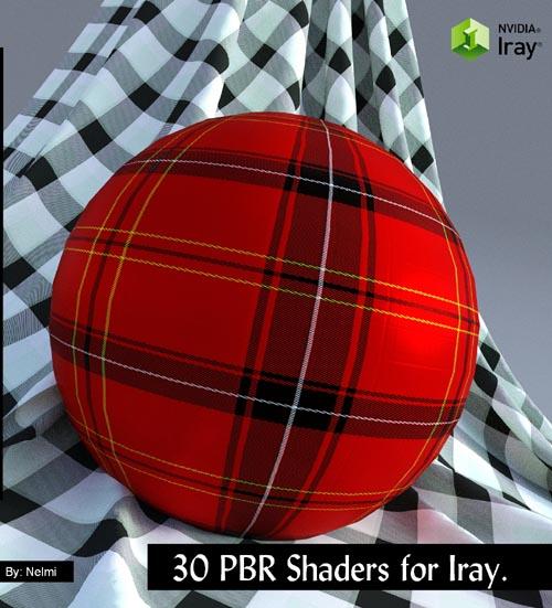 30 Tartan Fabric PBR Iray Shaders for Daz Studio
