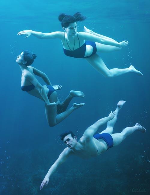 Underwater Poses for Genesis 3 & 8
