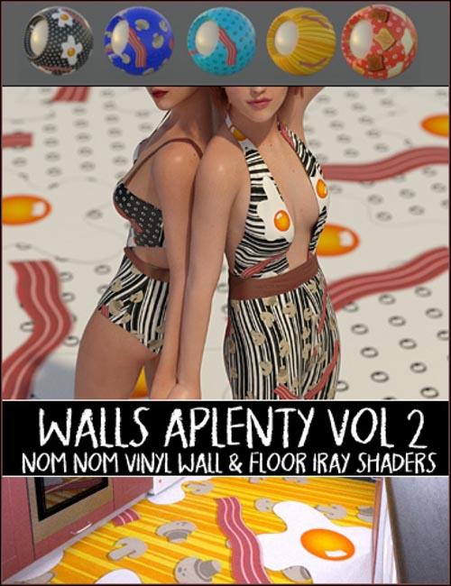 Nom Nom Vinyl Floor & Wall Iray Shaders