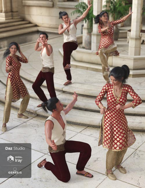 Bollywood Romance Poses for Genesis 8
