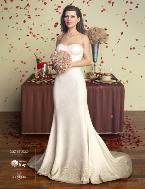The Bride Wedding Gown for Genesis 8 Female(s)