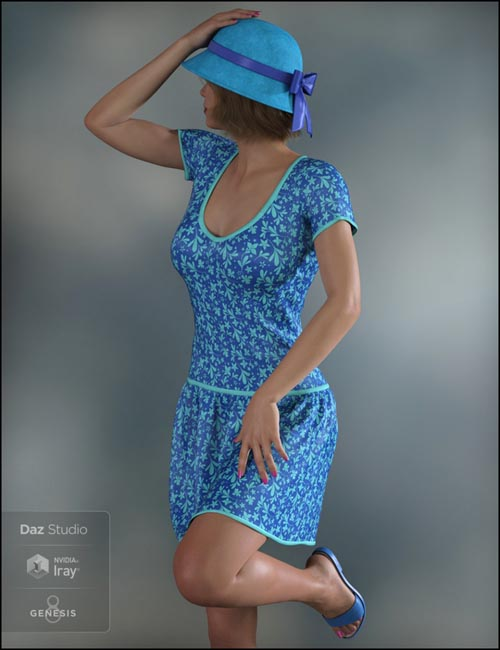 dForce Spring Fun Outfit for Genesis 8 Female(s)