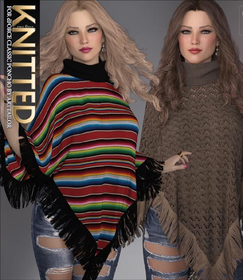 Knitted for dForce Classic Poncho