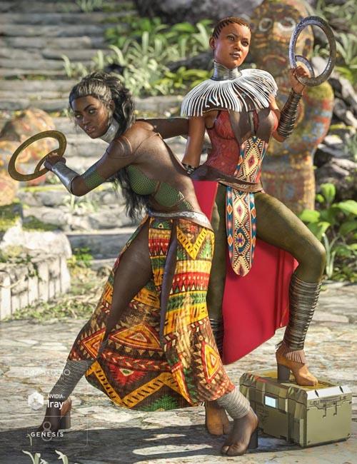 dForce Kakenda Outfit Textures