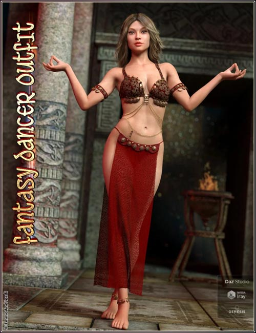dForce Fantasy Dancer Outfit and Poses For Genesis 8 Female(s)