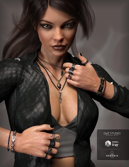 MD Rock Jewelry for Genesis 3 and 8 Female(s)