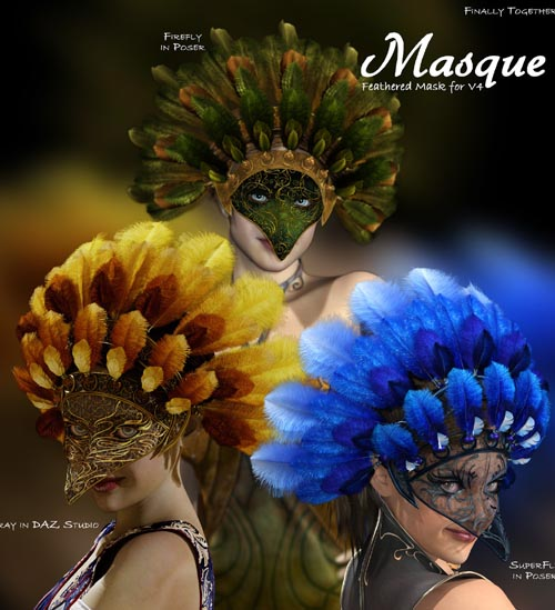 Masque: Feathered Mask for V4