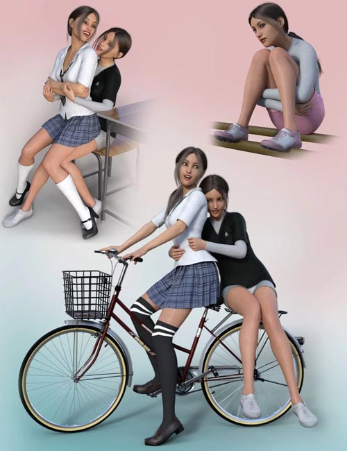 School Girl Poses for Genesis 8 Female(s)