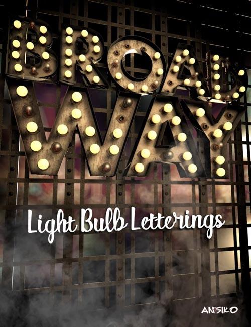 Broadway Light Bulb Letterings