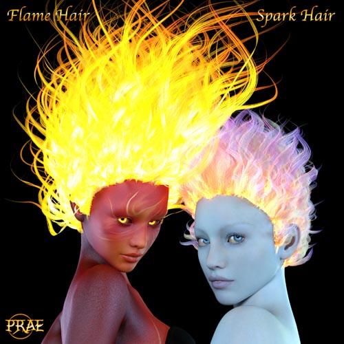 Prae-Fire Hair Double Pack G3/G8 Daz
