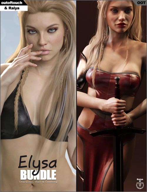 Elysa Character, Hair & Clothing Bundle