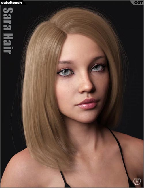 Sara Hair for Genesis 3 and 8 Female(s)