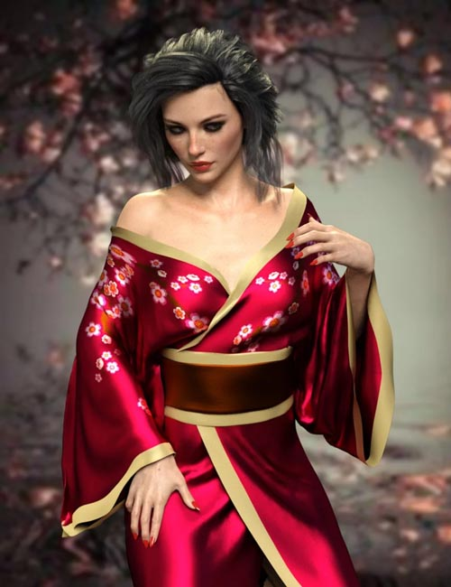 dForce X-Fashion Sexy Kimono for Genesis 8 Female(s)