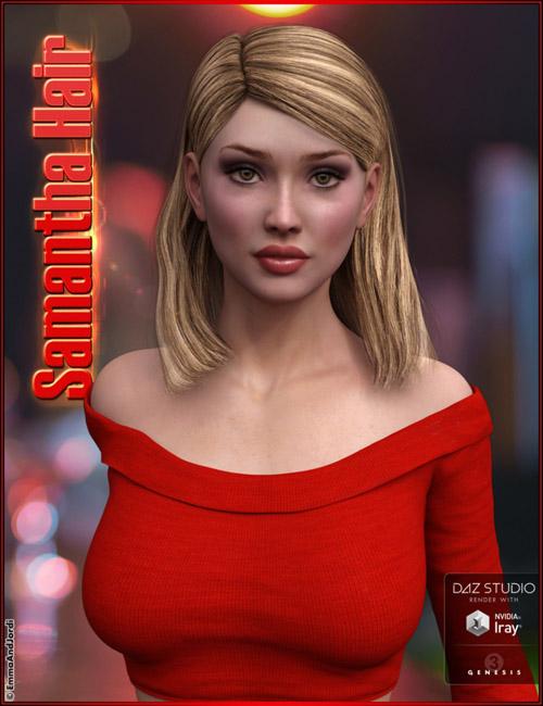 Samantha Hair For Genesis 3 Female(s)