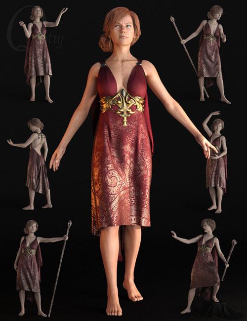 Quixotry's Fantasy Poses for Genesis 8 Female