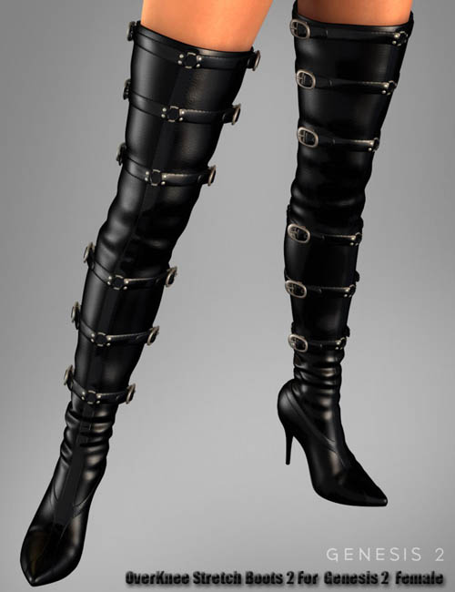 OverKnee Stretch Boots 2 For Genesis 2 Female(s)
