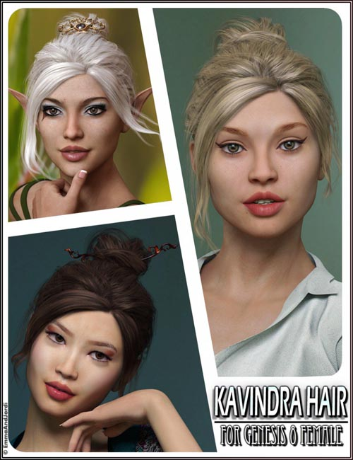 Kavindra Hair For Genesis 8 Female(s)
