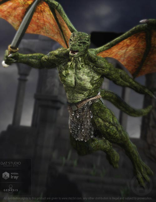 Dragkon for Genesis 8 Male