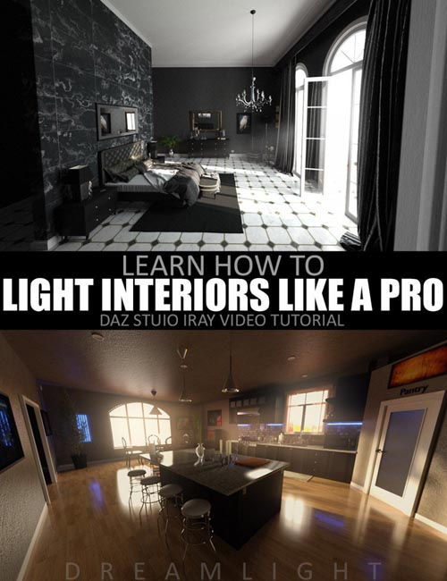 How To Light Interiors Like a PRO - Video Tutorial