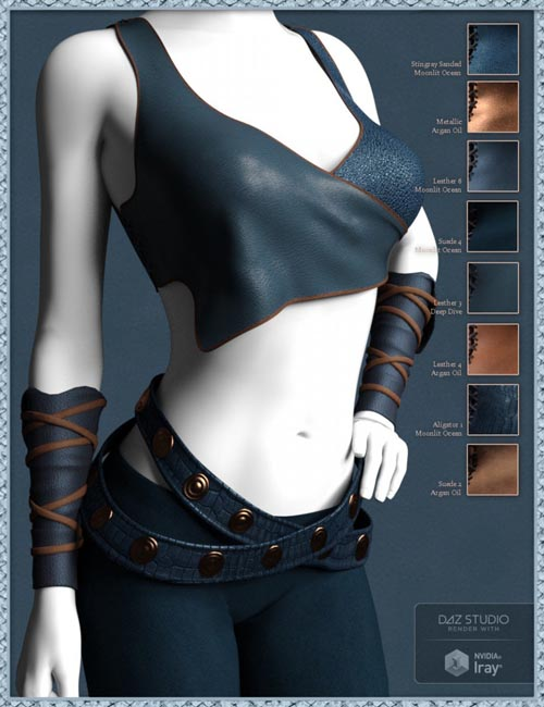 Exotic Leather Shader Presets 1 for Iray