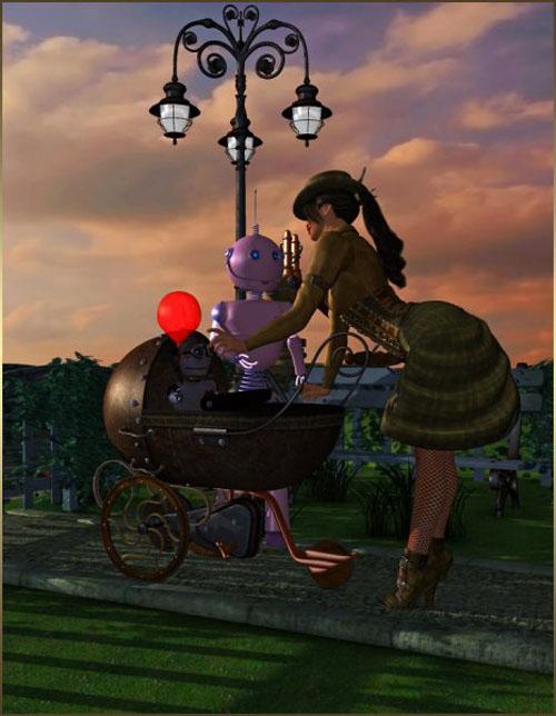 SteamPunk Stroller