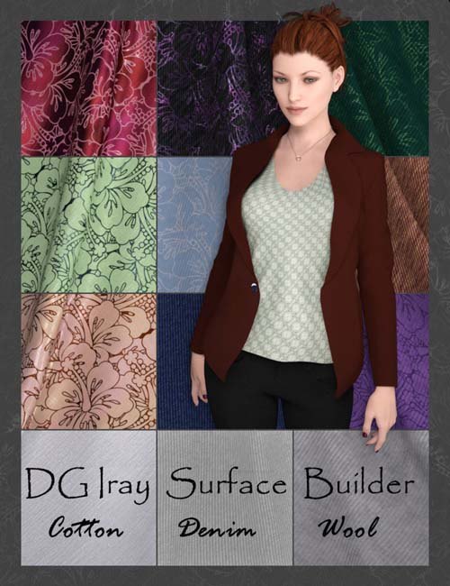 DG Iray Surface Builder - Cotton Denim Wool - Shaders and Merchant Resource