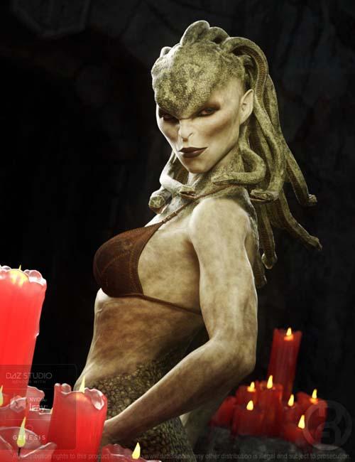 Medusa Gorgon for Genesis 8 Female