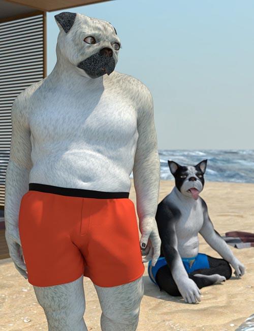 Oso Furries: Pugman for Genesis 8 Male