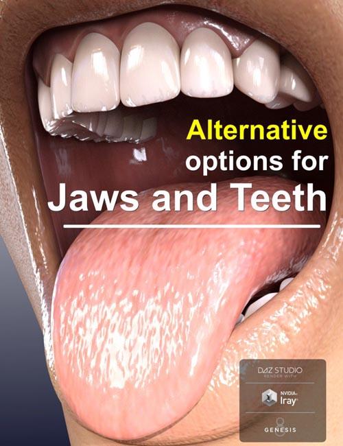 Alternative Jaws and Teeth for Genesis 8 Female(s)