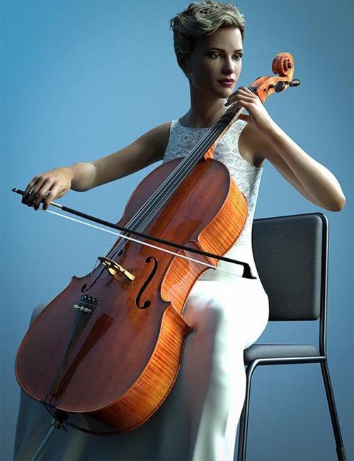 HD Cello and Poses for Genesis 8