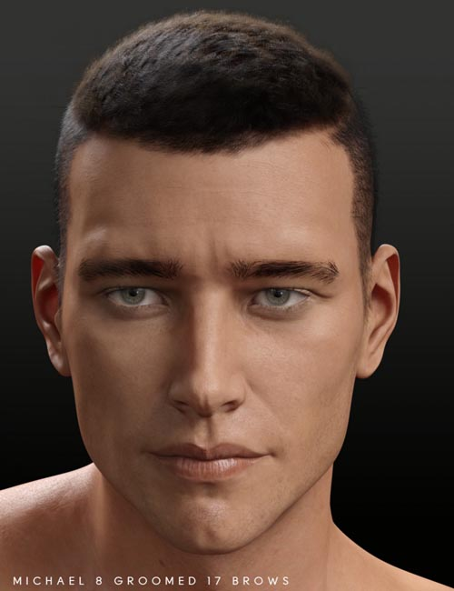 Bold Brows Fibermesh For Genesis 8 Males