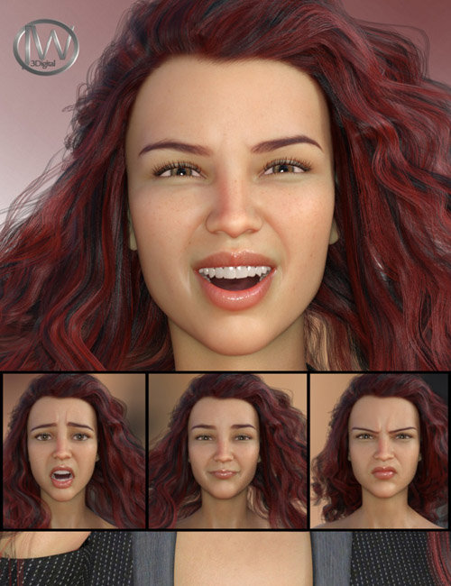 Her Emotions - Expressions for Genesis 8 Female(s) and Charlotte 8