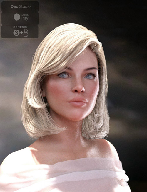 Lyam Bob Hair for Genesis 3 and Genesis 8 Female(s)
