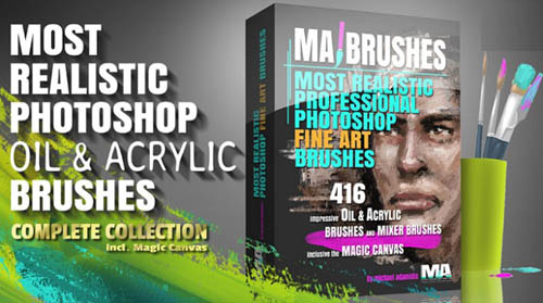Gumroad - MA Brushes - Realistic PHOTOSHOP Oil & Acrylic Brushes
