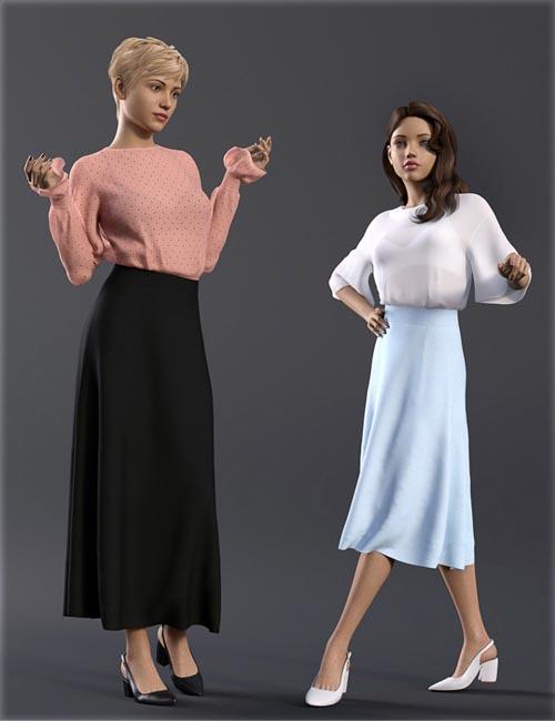dForce H&C Long Skirt Outfit for Genesis 8 Female(s)