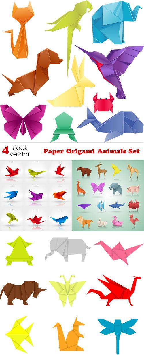 Paper Origami Animals Set