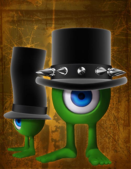 Goth Top Hats for Rounds