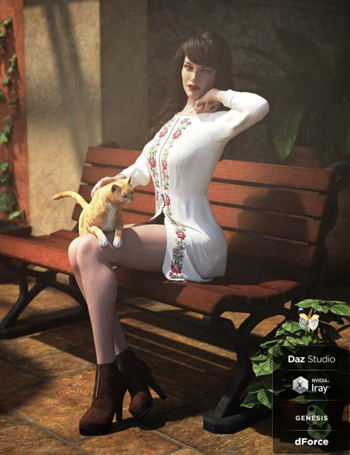 dForce Spring Breeze Outfit for Genesis 8 Female(s)